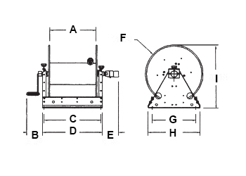 Dimensions for M Series Reels from Hosetract
